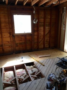 My clients' demolished kitchen.