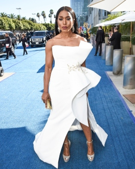 Mandatory Credit: Photo by Dan Steinberg/Invision/AP/REX/Shutterstock (9885399lw) Angela Bassett arrives at the 70th Primetime Emmy Awards, at the Microsoft Theater in Los Angeles 70th Primetime Emmy Awards - Limo Drop Off, Los Angeles, USA - 17 Sep 2018