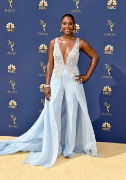 LOS ANGELES, CA - SEPTEMBER 17: Issa Rae attends the 70th Emmy Awards at Microsoft Theater on September 17, 2018 in Los Angeles, California. (Photo by John Shearer/Getty Images)