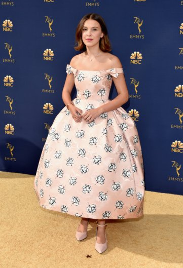 LOS ANGELES, CA - SEPTEMBER 17: Millie Bobby Brown attends the 70th Emmy Awards at Microsoft Theater on September 17, 2018 in Los Angeles, California. (Photo by John Shearer/Getty Images)