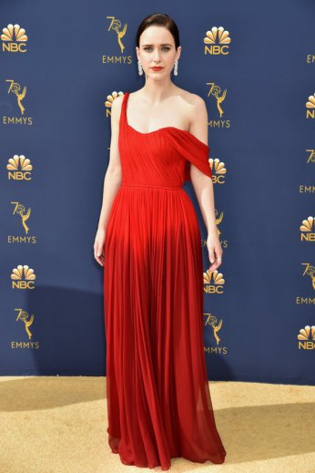 LOS ANGELES, CA - SEPTEMBER 17: Rachel Brosnahan attends the 70th Emmy Awards at Microsoft Theater on September 17, 2018 in Los Angeles, California. (Photo by Jeff Kravitz/FilmMagic)