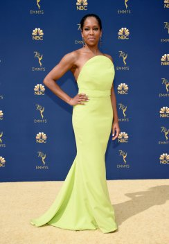 LOS ANGELES, CA - SEPTEMBER 17: Regina King attends the 70th Emmy Awards at Microsoft Theater on September 17, 2018 in Los Angeles, California. (Photo by Kevin Mazur/Getty Images)